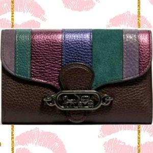 Coach Jade Medium Envelope Wallet With Piecing